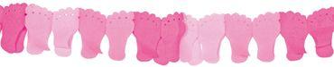 Papiergirlande Füßchen rosa