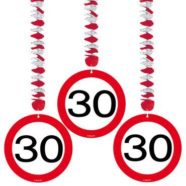 Rotorspiralen Verkehrsschild 30