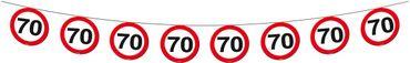 Wimpelkette Verkehrsschild 70