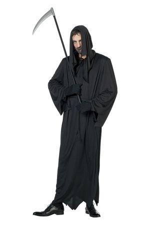 Schwarzer Tod-Robe mit Schnur