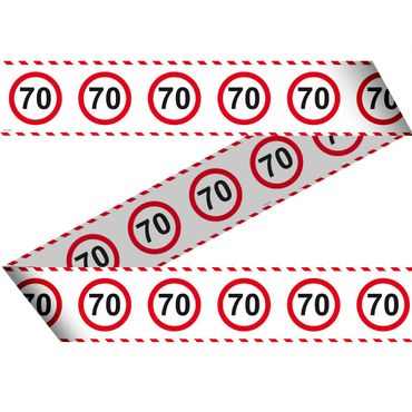 Absperrband Verkehrsschild 70