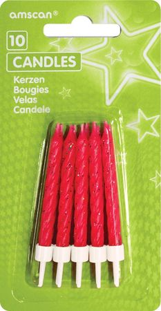 Geburtstagskerzen Glitter pink