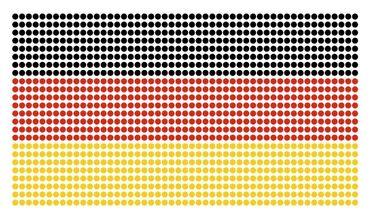 Strassaufbügler Fahne Deutschland