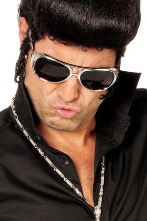 Brille Elvis silber