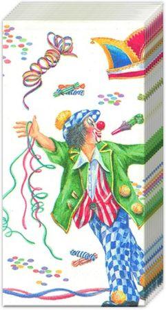 10 Taschentücher Clown