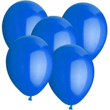 100 Rundballons blau