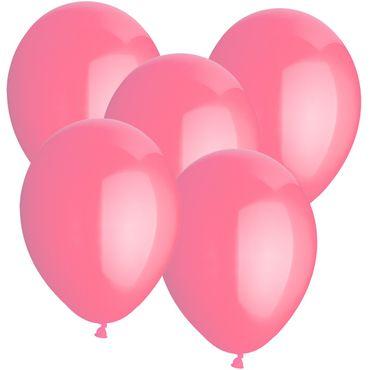 100 Rundballons rosa