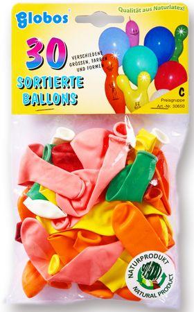 30 Ballons sortiert bunt