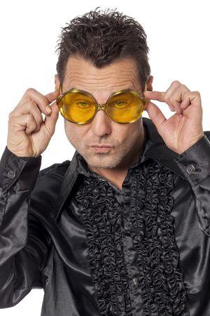 Brille runde Gläser gelb
