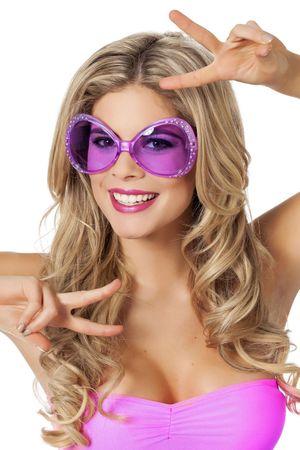 Brille mit Strass lila
