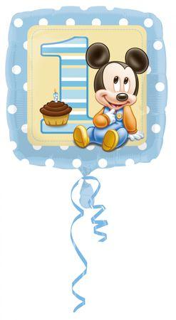 Folienballon 1. Birthday Mickey