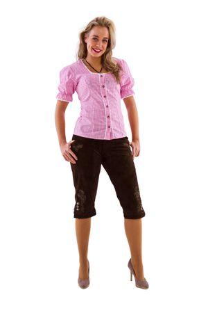 Damen-Kniebundhose braun