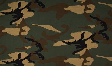Baumwoll-Jersey Camouflage grün