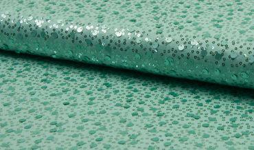 Jersey Spangles m. Pailletten mintgrün