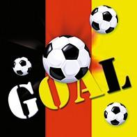 20 Servietten Goal Deutschland