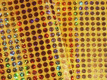 Paillettenstoff holo gold