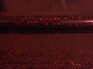 Jersey-Stretch schwarz mit Holo rot – Bild 1