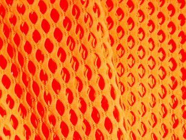 Elastischer Netzstoff orange