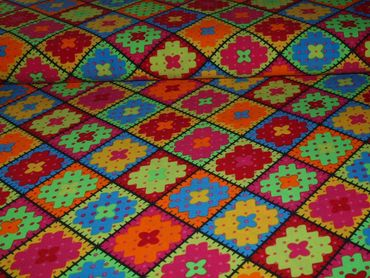 Bi-Stretch Patchwork bunt – Bild 2