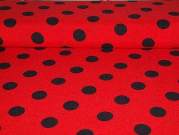 Bi-Stretch rot Punkte schwarz – Bild 1
