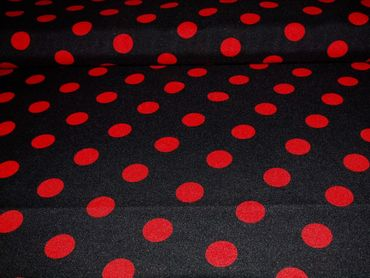 Bi-Stretch schwarz Punkte rot – Bild 1