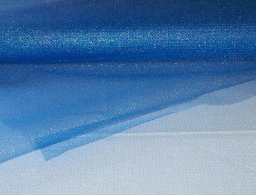 Glitter Tüll hellblau-silber – Bild 1