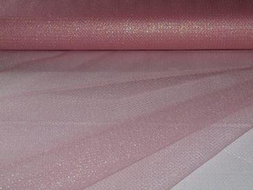 Glitter Tüll zartrosa-silber