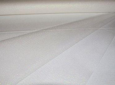 Glitter Tüll weiß-silber