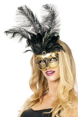 Maske Venezia gold-schwarz