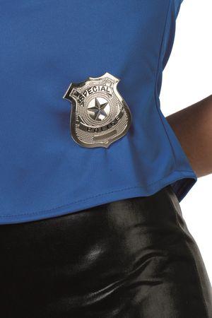 US-Police-Marke silber