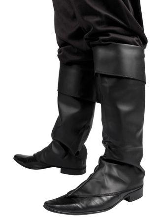 Stiefelstulpen Kunstleder schwarz
