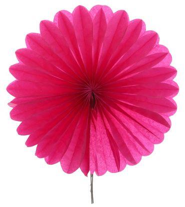 2 Mini-Fächer fuchsia / pink Ø 20 cm – Bild 1