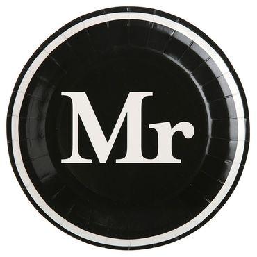 10 Papp-Teller Mr. schwarz