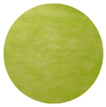10 Runde Tischsets Vlies grün