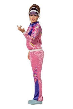 Jogging-Anzug 80S rosa – Bild 2