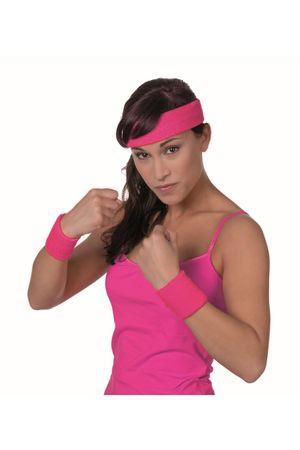 Schweißband-Set pink