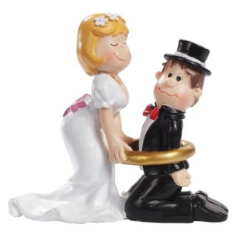 Figur Hochzeitspaar mit Ring
