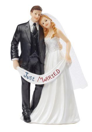 Figur Hochzeitspaar Just Married