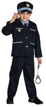 Blauer Polizist-Anzug