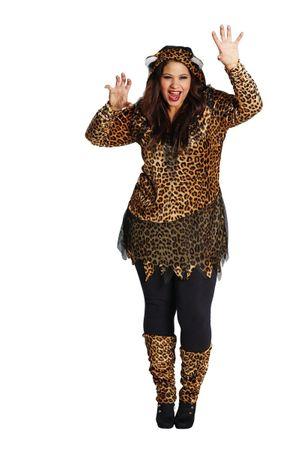 Leopard-Kapuzenkleid – Bild 3