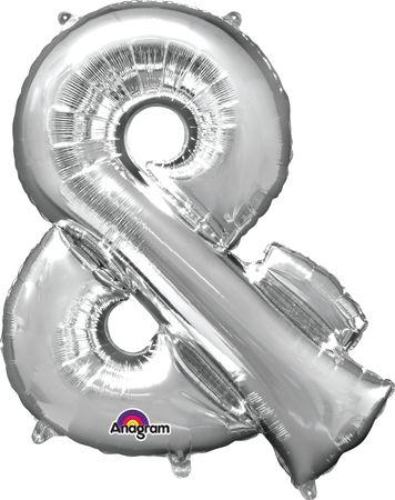 Folienballon Buchstabe & silber - 88cm