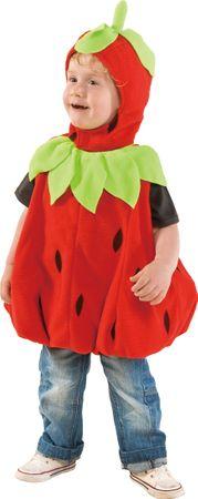 Baby Erdbeere-Oberteil mit Haube