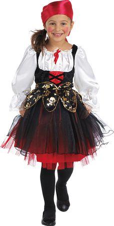 Piratin-Kleid mit Kopftuch