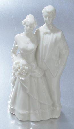 Hochzeitspaar Figur weiß