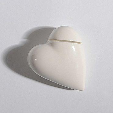 Kartenhalter Herz weiß glänzend
