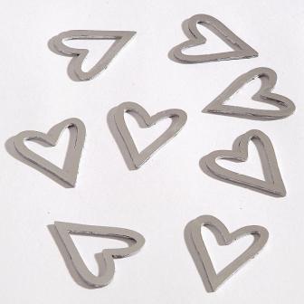 8 Streuteile Herz silber