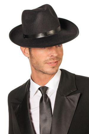 Gangster Hut schwarz