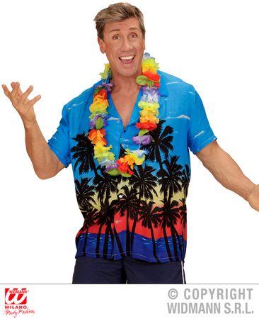 Hawaiiihemd blau mit Palmen – Bild 2