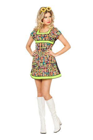 Kleid Neon Popart