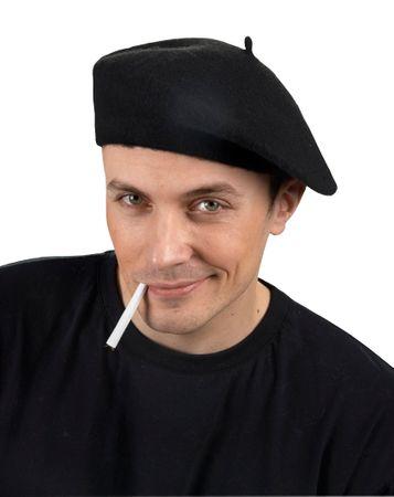 Baskenmütze schwarz
